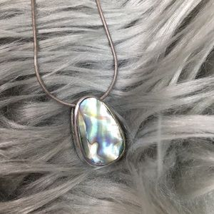 Sterling Silver Reversible Abalone Necklace